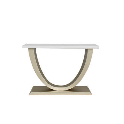 modern console table with Artificial marble top finish base frame