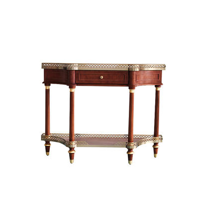 New classic luxurious wooden small console table with drawerS