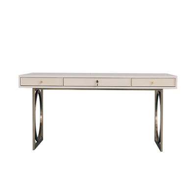 Classic luxury stainless steel base TV console table for living room