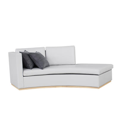 Latest Design Luxury Royal Wood And Velvet Chaise Lounge  sofa for Living Room