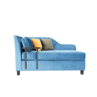 Hotel furniture 5 Star Hotel Living Room blue fabric sofa