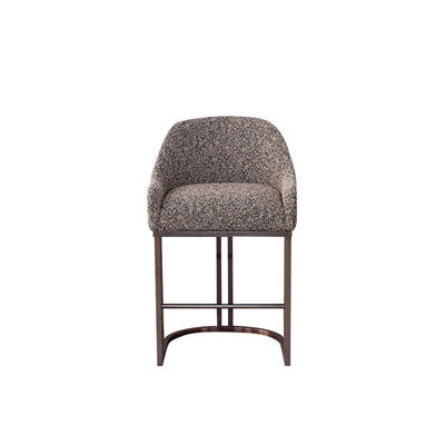 commercial restaurant furniture Modern Club Bar Stool with brass finish frame