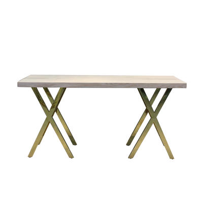 Good quality modern gold stainless steel console table from TaoRong